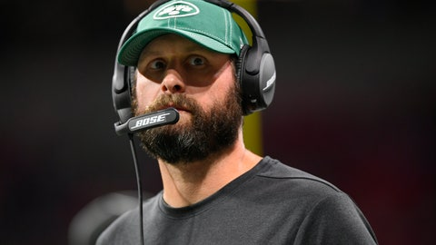<p>               New York Jets head coach Adam Gase watches play against the Atlanta Falcons during the second half an NFL preseason football game, Thursday, Aug. 15, 2019, in Atlanta. (AP Photo/John Amis)             </p>