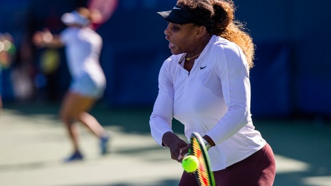 <p>               Serena Williams, of the United States, practices for the U.S. Open tennis tournament Saturday, Aug. 24, 2019, in New York. (AP Photo/Eduardo Munoz Alvarez)             </p>