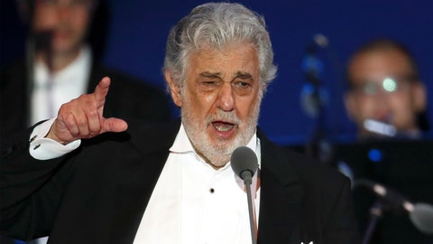 <p>               FILE- In this Aug. 28, 2019, file photo, opera star Placido Domingo performs during a concert in Szeged, Hungary. The Tokyo Olympics organizing committee has not decided what it plans to do about the appearance of Placido Domingo at a 2020 Games event and is looking into reports of sexual harassment by the opera star. (AP Photo/Laszlo Balogh, File)             </p>