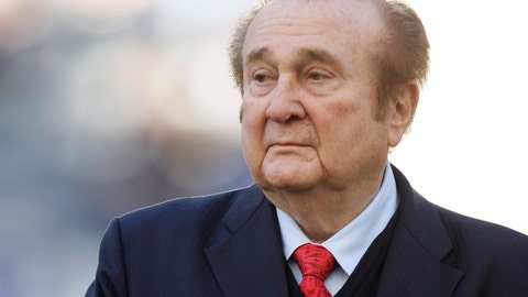 <p>               FILE - In this July 23, 2011 file photo, Conmebol President Nicolas Leoz attends a Copa America third-place soccer match in La Plata, Argentina. Leoz, president of Conmebol between 1986 and 2013, died on Wednesday night, Aug. 28, 2019. He was 90 years old. (AP Photo/Fernando Llano, File)             </p>