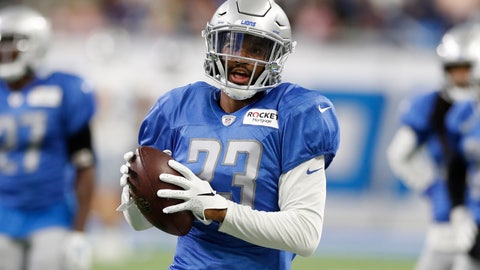 <p>               Detroit Lions cornerback Darius Slay runs a drill at an open practice at Ford Field, Friday, Aug. 2, 2019, in Detroit. (AP Photo/Carlos Osorio)             </p>