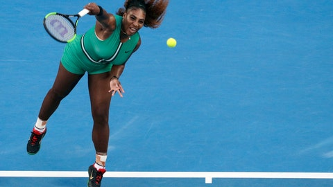 <p>               FILE - In this Jan. 21, 2019, file photo, Serena Williams serves to Romania's Simona Halep during their fourth round match at the Australian Open tennis championships in Melbourne, Australia. Serena Williams and Maria Sharapova will finally meet in the U.S. Open, and they'll do it right in their very first match. The past U.S. Open champions, two of the biggest superstars in women's tennis, were sent into an opening-round matchup when the draws were conducted Thursday, Aug. 22, 2019, for the final major of the year. (AP Photo/Mark Schiefelbein, File)             </p>