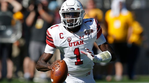 <p>               FILE - In this Nov. 3, 2018, file photo, Utah quarterback Tyler Huntley (1) is shown in the first half during an NCAA college football game against Arizona State, in Tempe, Ariz. No. 14 Utah heads into the 100th edition of the Holy War rivalry with BYU sporting a new-look offense headlined by a familiar playmaker. (AP Photo/Rick Scuteri, File)             </p>