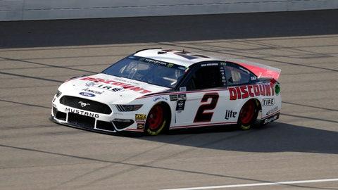 <p>               Brad Keselowski qualifies for a NASCAR Cup Series auto race at Michigan International Speedway in Brooklyn, Mich., Friday, Aug. 9, 2019. Keselowski won the pole position. (AP Photo/Paul Sancya)             </p>