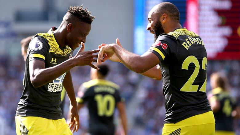 Southampton beats 10-man Brighton 2-0 in Premier League