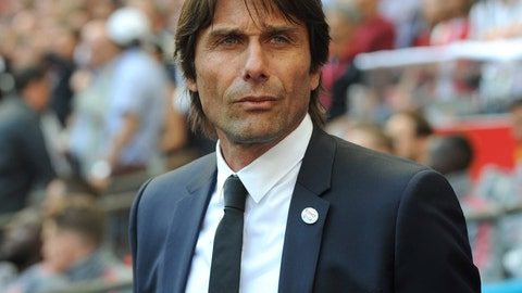 <p>               FILE - In this Saturday, May 19, 2018 file photo, Chelsea manager Antonio Conte looks on during their English FA Cup final soccer match against Manchester United at Wembley stadium in London, England. There will be some familiar new faces when the Italian league starts back up this weekend _ albeit in unfamiliar roles. Maurizio Sarri and Antonio Conte have returned to coach in Serie A in a shakeup of the top managerial roles rarely seen. (AP Photo/Rui Vieira, file)             </p>