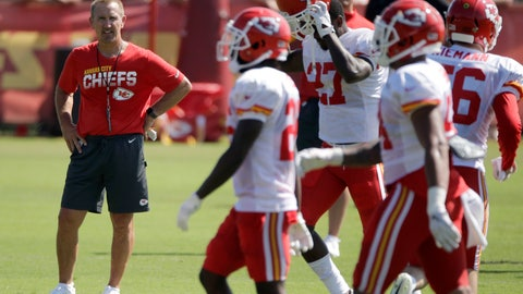 <p>               FILE - In this July 29, 2019, file photo, Kansas City Chiefs defensive coordinator Steve Spagnuolo watches a drill during NFL football training camp, in St. Joseph, Mo. There's a good chance Juan Thornhill will start at safety for the Chiefs in Week 1. That bucks a trend not only for coach Andy Reid but also defensive coordinator Steve Spagnuolo when it comes to rookies.(AP Photo/Charlie Riedel, File)             </p>