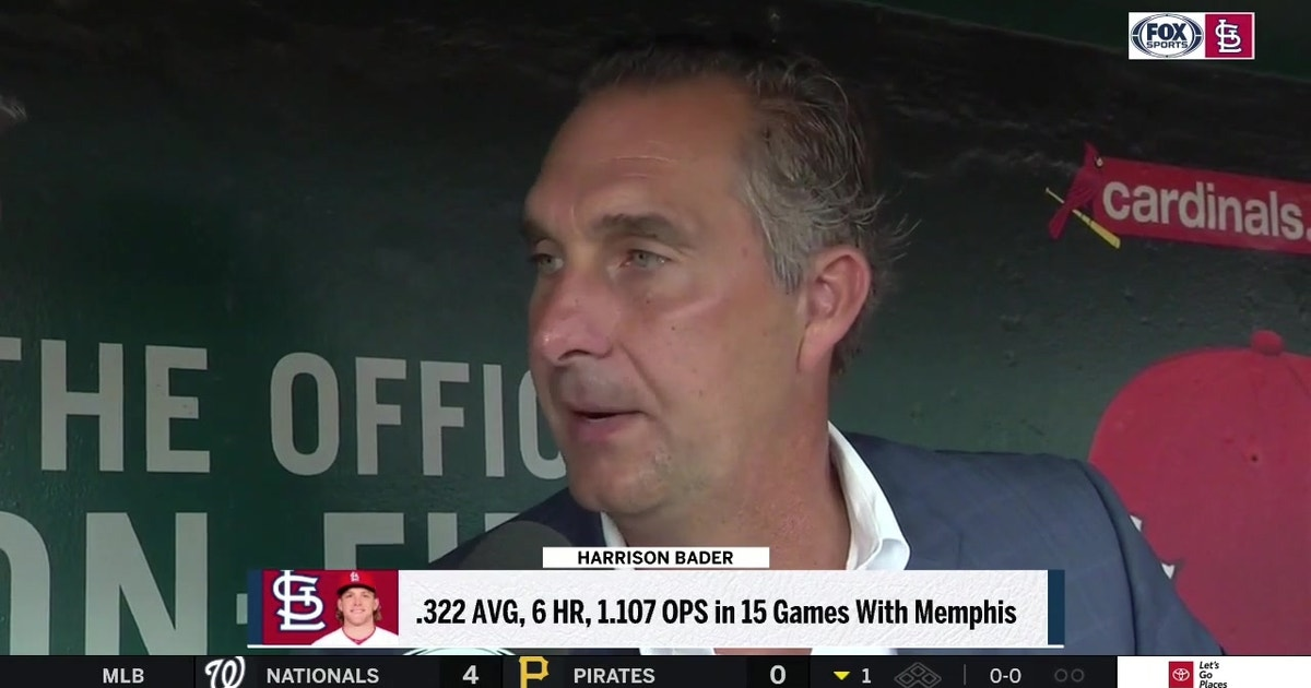 Mozeliak on Bader: 'He's gone down there and gotten his swing back'