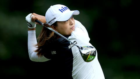 <p>               South Korea's Jin Young Ko plays off the 7th tee on day two of the Women's British Open at Woburn Golf Club, Little Brickhill, England, Friday Aug. 2, 2019. (Steven Paston/PA via AP)             </p>