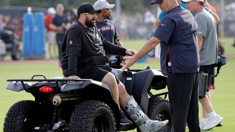 <p>               Detroit Lions coach Matt Patricia, left, talks with Houston Texans coach Bill O'Brien during an NFL football joint training camp practice Wednesday, Aug. 14, 2019, in Houston. (AP Photo/David J. Phillip)             </p>