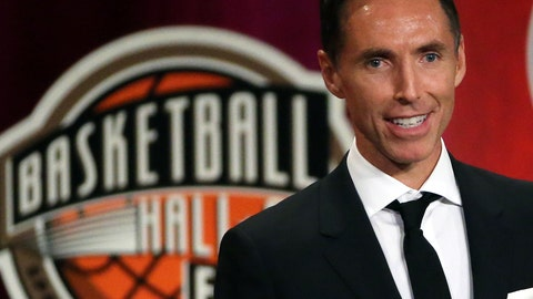 <p>               FILE - In this Sept. 7, 2018, file photo, Steve Nash speaks during induction ceremonies at the Basketball Hall of Fame, in Springfield, Mass. Nash is about to take on an expanded role in his second year with Turner Sports.  The network announced on Tuesday, Aug. 6, 2019, that Nash is returning to B/R Football's UEFA Champions League broadcasts on TNT and B/R Live. He will also be a contributor to TNT's NBA coverage when the upcoming season begins in October. (AP Photo/Elise Amendola, File)             </p>