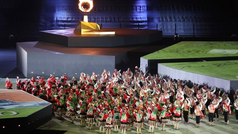 <p>               Dancers perform during the closing ceremony of the Pan American Games at the National stadium in Lima, Peru, Sunday, Aug. 11, 2019. (AP Photo/Martin Mejia)             </p>