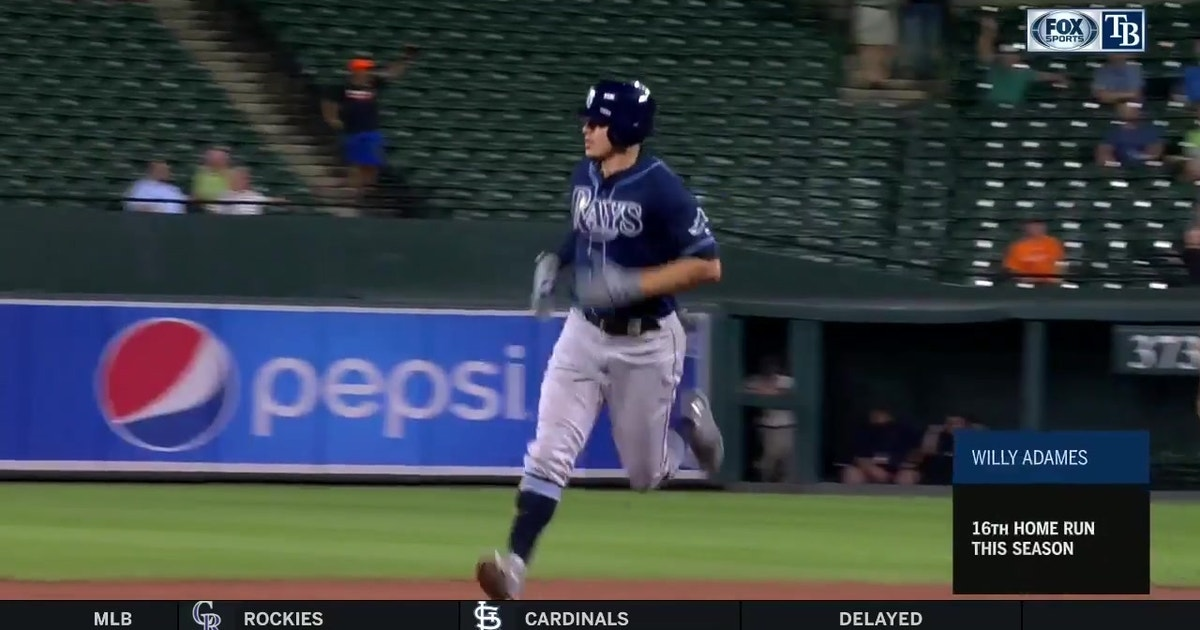 WATCH: Willy Adames delivers 1 HR, 3 RBI in Rays' win over Baltimore