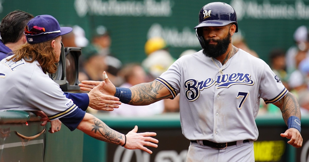 Eric Thames 14th inning homer wins it for Brewers over Nationals in 15-14 thriller