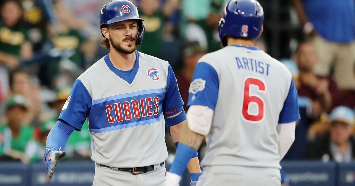 Cubs offense explodes in Little League Classic, draw back into first place tie