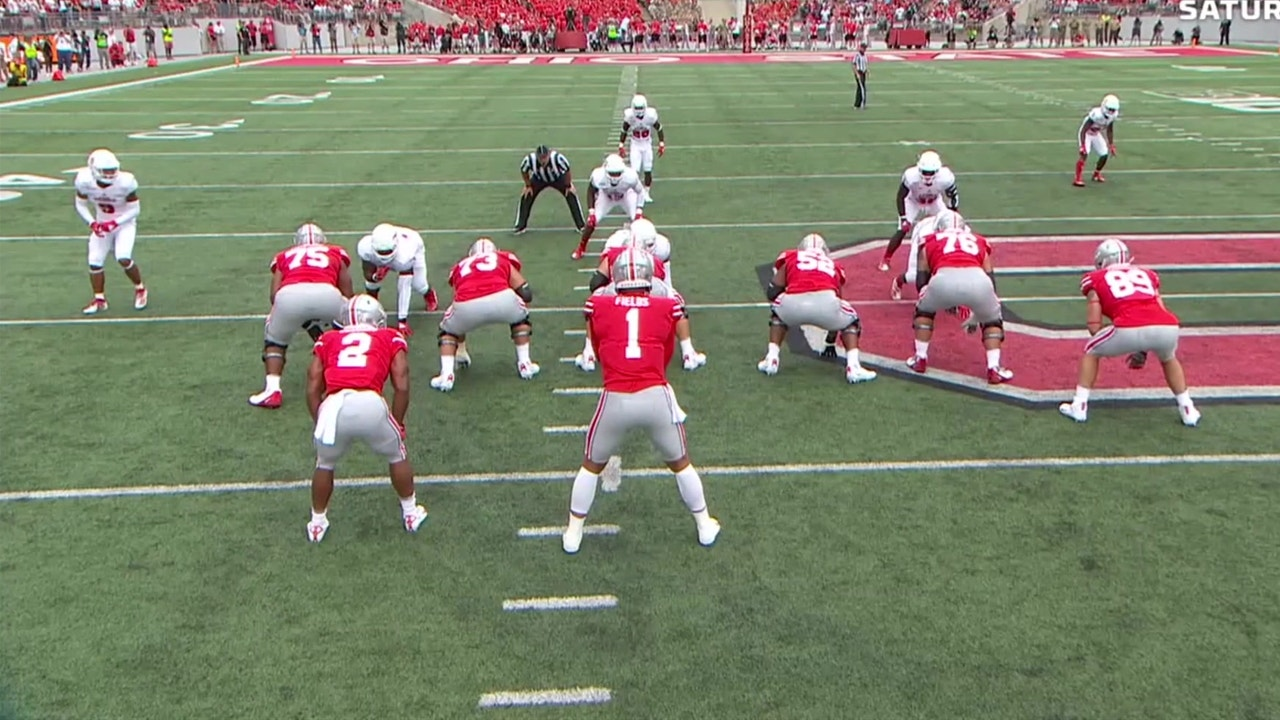 Justin Fields Scores His First Td With Ohio State Fox College Football Highlights