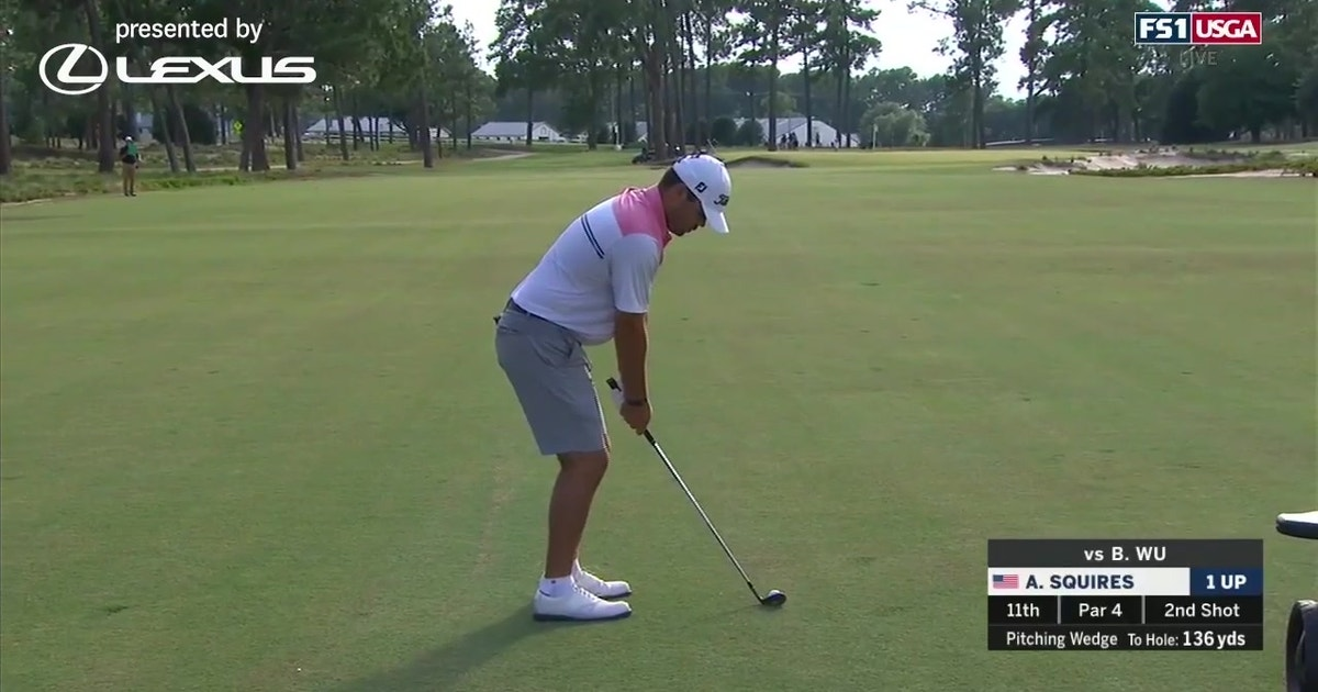 Austin Squires defeats Brandon Wu by two holes in the Round of 64 at the 119th U.S. Amateur (VIDEO)