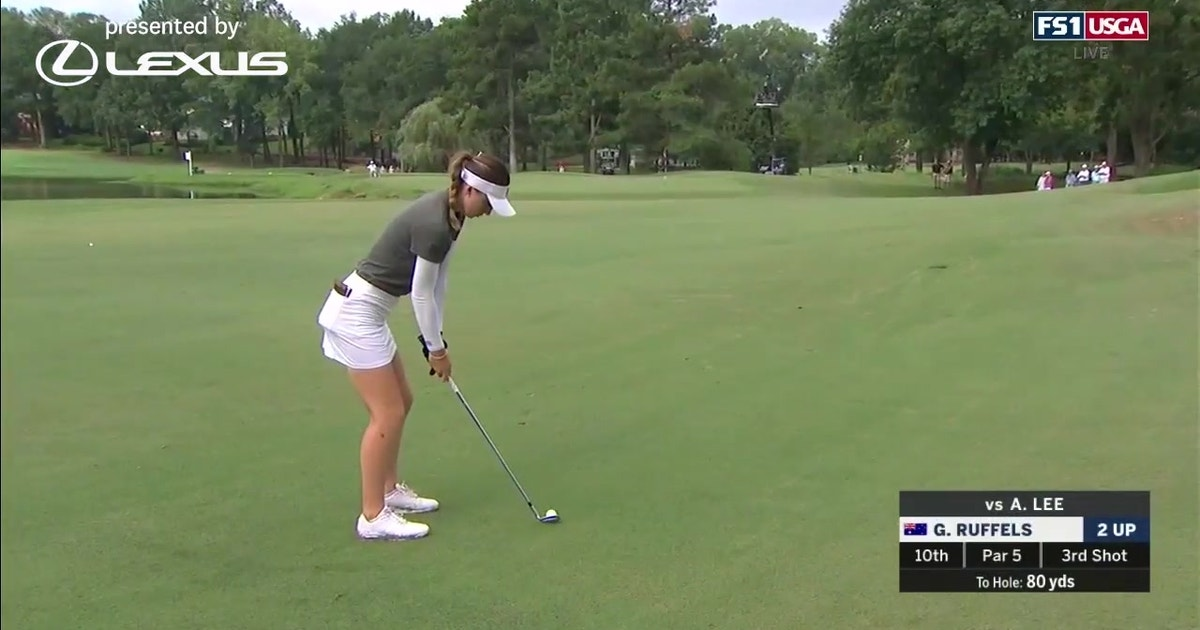 Gabriela Ruffels advances to the finals shooting even par at the U.S. Women's Amateur (VIDEO)