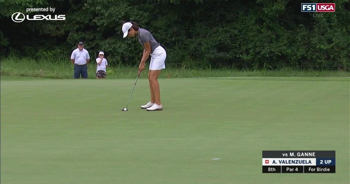 Albane Valenzuela defeats Megha Ganne in the semifinals of the U.S. Women's Amateur (VIDEO)