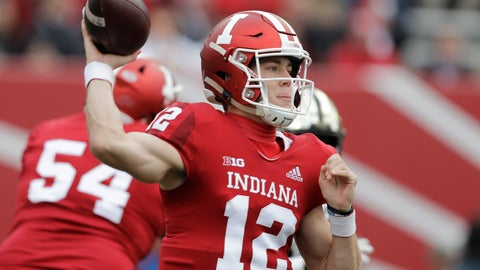 <p>               FILE - In this Nov. 24, 2018, file photo, Indiana quarterback Peyton Ramsey throws during the first half of an NCAA college football game against Purdue, in Bloomington, Ind. Ramsey learned one key lesson from the two previous quarterback competitions at Indiana: Forget the comparisons.(AP Photo/Darron Cummings, File)             </p>