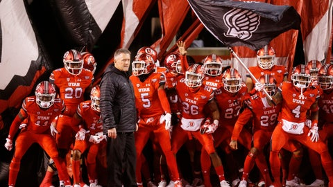 <p>               FILE - In this Nov. 24, 2018, file photo, Utah head coach Kyle Whittingham and his team prepares to take the field prior to an NCAA college football game against the BYU in Salt Lake City. The 14th-ranked Utes return their entire two-deep front from last season, including Leki Fotu and defensive end Bradlee Anae, who both graded well enough to project as early round picks in the 2019 NFL draft.  (AP Photo/Rick Bowmer, File)             </p>