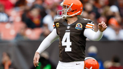 <p>               FILE - In this Dec. 9, 2012 file photo Cleveland Browns kicker Phil Dawson (4) kicks a field goal against the Kansas City Chiefs during an NFL football game in Cleveland. Dawson has retired from the NFL after 20 seasons. (AP Photo/Rick Osentoski, file)             </p>