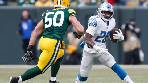 <p>               FILE - In a Sunday, Dec. 30, 2018 file photo, Detroit Lions' Theo Riddick runs during the first half of an NFL football game against the Green Bay Packers, in Green Bay, Wis. The Detroit Lions have released running back Theo Riddick after six seasons with the team. Coach Matt Patricia announced the move Saturday, July 27, 2019 while confirming the signing of defensive lineman Mike Daniels. (AP Photo/Matt Ludtke, File)             </p>