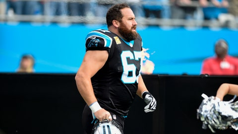 <p>               In this Nov. 4, 2018 photo Carolina Panthers center Ryan Kalil (67) runs onto the field before the start of an NFL football game against the Tampa Bay Buccaneers in Charlotte, N.C. Kalil has surprisingly come out of retirement to join the New York Jets. The 34-year-old Kalil and the Jets agreed to terms on a deal Thursday, Aug. 1, 2019. He will have to pass a physical before signing his contract and making it official. (AP Photo/Mike McCarn)             </p>