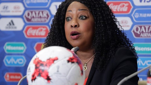 <p>               FILE - In this Friday, June 16, 2017 file photo, FIFA Secretary General Fatma Samoura talks to media at the St. Petersburg Stadium in Russia.  In a letter sent Monday Aug. 12, 2019, to national soccer associations, Samoura, was supposed to delegate her functions to avoid conflict of interests while she conducted a six-month role as FIFA General Delegate for Africa, but she is now seeking approval from African soccer nations for FIFA to take control of the sale of television rights for Africa's World Cup qualifiers. (AP Photo/Dmitri Lovetsky, File)             </p>