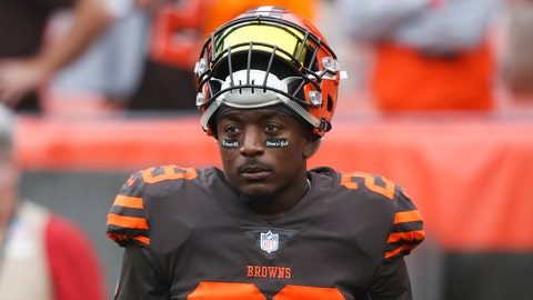 <p>               FILE - In this Oct. 7, 2018, file photo, Cleveland Browns running back Duke Johnson (29) warms up before an NFL football game against the Baltimore Ravens, in Cleveland. The Browns have traded disgruntled running back Duke Johnson, Thursday, Aug. 8, 2019,  to the Houston Texans for an undisclosed 2020 draft pick. (AP Photo/Ron Schwane, File)             </p>