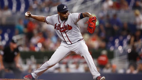 <p>               Atlanta Braves starting pitcher Julio Teheran delivers during the first inning of the team's baseball game against the Miami Marlins on Friday, Aug. 9, 2019, in Miami. (AP Photo/Brynn Anderson)             </p>