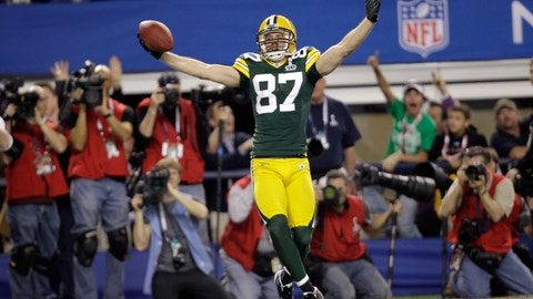 <p>               FILE - In this Feb. 6, 2011, file photo, Green Bay Packers' Jordy Nelson celebrates after he scored a touchdown against the Pittsburgh Steelers during the first half of the NFL football Super Bowl XLV game in Arlington, Texas. Nelson signed a one-day contract with the Packers on Tuesday, Aug. 6, 2019, and announced his retirement after 11 seasons, 10 of which he spent in Green Bay. (AP Photo/Eric Gay, File)             </p>