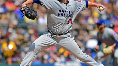 <p>               Chicago Cubs starting pitcher Jon Lester delivers in the third inning of a baseball game against the Pittsburgh Pirates, Saturday, Aug.  17, 2019, in Pittsburgh. (AP Photo/David Dermer)             </p>