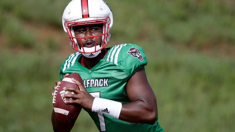 <p>               FILE - In this Aug. 6, 2019, file photo, North Carolina State quarterback Matthew McKay is shown during an NCAA college football practice in Raleigh, N.C. McKay will start the season at quarterback for North Carolina State. The redshirt sophomore was listed atop the depth chart released Monday, Aug. 26, 2019, for the Wolfpack's opener against East Carolina.(AP Photo/Gerry Broome, File)             </p>