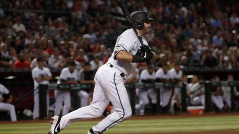<p>               Arizona Diamondbacks' Alex Avila follows through on a two-run base hit against the Philadelphia Phillies during the sixth inning of a baseball game Tuesday, Aug. 6, 2019, in Phoenix. (AP Photo/Matt York)             </p>