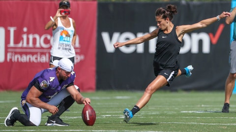 Carli Lloyd received offer to kick in NFL preseason game, says trainer
