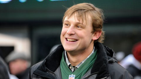 <p>               FILE - In this Dec. 8, 2013, file photo, former New York Jets quarterback Chad Pennington smiles before the team's NFL football game against the Oakland Raiders in East Rutherford, N.J. Pennington, the NFL's Comeback Player of the Year for the Jets in 2006 and for the Dolphins in 2008, is a member of the league's Legends Youth Advisory Committee, which was launched earlier this year. It guides efforts to grow youth and high school football. (AP Photo/Bill Kostroun, File)             </p>