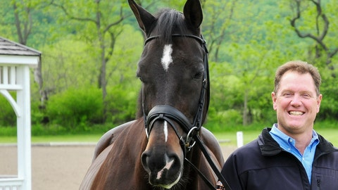 <p>               This May 2009 photo shows Michael Barisone at his equestrian farm in Washington Township, N.J. The former U.S. Olympic dressage athlete is accused of shooting a woman at his New Jersey farm where he trains equestrian athletes. Prosecutors in Morris County, on Thursday, Aug. 8, 2019, charged the 54-year-old with two counts of attempted murder and weapons offenses. (Nancy Jaffer via AP)             </p>