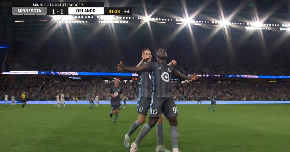 WATCH: Loons' Abu Danladi ties it in stoppage time