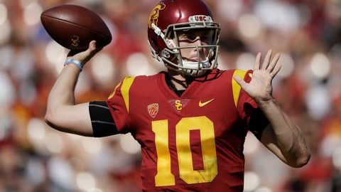 <p>               FILE - In this Oct. 27, 2018, file photo, Southern California quarterback Jack Sears throws against Arizona State during the first half of an NCAA college football game in Los Angeles. Sears has entered the transfer portal after failing to win the starting job in a four-man competition. Sears, a redshirt sophomore, announced his plans in a statement he posted to Twitter on Tuesday, Aug. 27. Sears' decision came less than one week after coach Clay Helton announced sophomore J.T. Daniels would start for the second straight season. (AP Photo/Marcio Jose Sanchez, File)             </p>