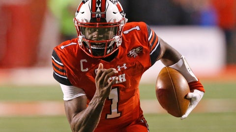 <p>               FILE - In this Oct. 12, 2018, file photo, Utah quarterback Tyler Huntley (1) carries the ball against Arizona during the first half of an NCAA college football game, in Salt Lake City. The Utes return quarterback Tyler Huntley, who threw for 1,788 yards with 12 touchdowns last season but missed the final five games because of a broken collarbone. (AP Photo/Rick Bowmer, File)             </p>