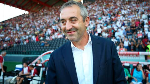<p>               Milan's coach Marco Giampaolo looks on prior to the Italian Serie A soccer match between Udinese and AC Milan at the Friuli stadium in Udine, Italy, Sunday,  Aug. 25, 2019. (Gabriele Menis/ANSA via AP)             </p>