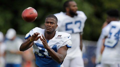 <p>               Indianapolis Colts cornerback Rock Ya-Sin (34) runs a drill during practice at the NFL team's football training camp in Wednesday, Aug. 14, 2019, in Westfield, Ind. (AP Photo/Darron Cummings)             </p>