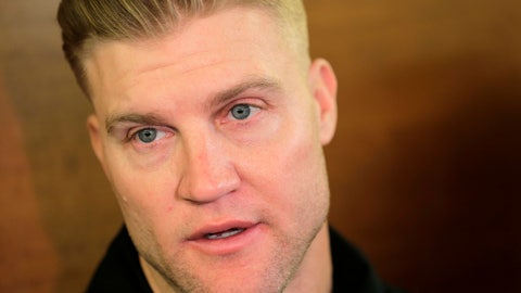 <p>               FILE - In this Dec. 31, 2018, file photo, New York Jets quarterback Josh McCown talks to reporters in the locker room in Florham Park, N.J. McCown's retirement lasted two months. The Philadelphia Eagles signed the 40-year-old quarterback to a one-year deal on Saturday, Aug. 17, 2019, a person familiar with the deal told The Associated Press. He is coming out of retirement to join his 11th team and play his 17th season. (AP Photo/Seth Wenig, File)             </p>