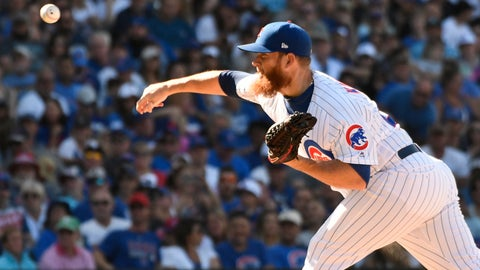 <p>               Chicago Cubs relief pitcher Craig Kimbrel (24) throws the ball against the Milwaukee Brewers during the ninth inning of a baseball game, Saturday, Aug. 3, 2019, in Chicago. (AP Photo/David Banks)             </p>