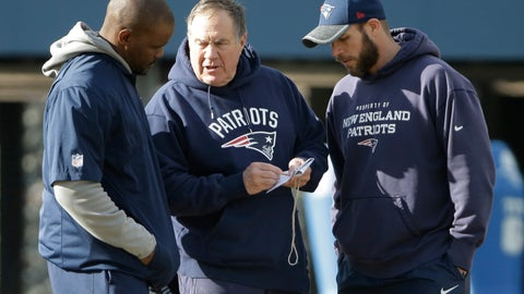 <p>               FILE - In this Jan. 19, 2017, file photo, New England Patriots head coach Bill Belichick, center, speaks with linebackers coach Brian Flores, left, and defensive line coach Brendan Daly during an NFL football team practice, in Foxborough, Mass. Flores is now the head coach of the Miami Dolphins. The Dolphins hired Flores even though the Patriots' Way hasn't worked elsewhere. While Belichick owns a record six Super Bowl championship rings, his former New England assistants have combined for one playoff victory as head coaches. (AP Photo/Steven Senne, File)             </p>