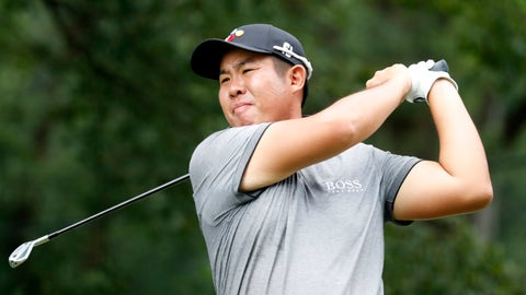 <p>               Byeong Hun An watches his tee shot on the fourth hole hole during the third round of the Wyndham Championship golf tournament at Sedgefield Country Club in Greensboro, N.C. Saturday, August 3, 2019. (AP Photo/Chris Seward)             </p>