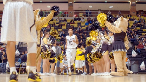 """<p>               This image released by The WorkShop shows a scene from """"Basketball or Nothing,"""" a new docuseries that examines the hoops dreams of a rural, Arizona town in the heart of the Navajo Nation. The six-episode series debuts Friday on Netflix. (The WorkShop via AP)             </p>"""