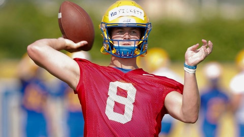 <p>               FILE - This Aug. 2, 2019, file photo shows Pittsburgh quarterback Kenny Pickett as he passes in a drill during an NCAA college football practice in Pittsburgh. How far Pitt goes toward repeating as ACC Coastal Division champions will rely heavily on if quarterback Kenny Pickett and new offensive coordinator Mark Whipple can revive a dormant passing game. (AP Photo/Keith Srakocic, File)             </p>
