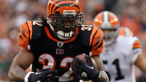 <p>               FILE - In this Nov. 27, 2011 file photo Cincinnati Bengals running back Cedric Benson runs for a touchdown in the first half of an NFL football game against the Cleveland Browns in Cincinnati. Benson, one of the most prolific rushers in NCAA and University of Texas history, has died in a motorcycle accident in Texas, Saturday, Aug. 17, 2019. He was 36. (AP Photo/David Kohl, file)             </p>